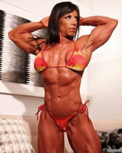 perfect female bodybuilder with muscular body and toned biceps pic from instagram