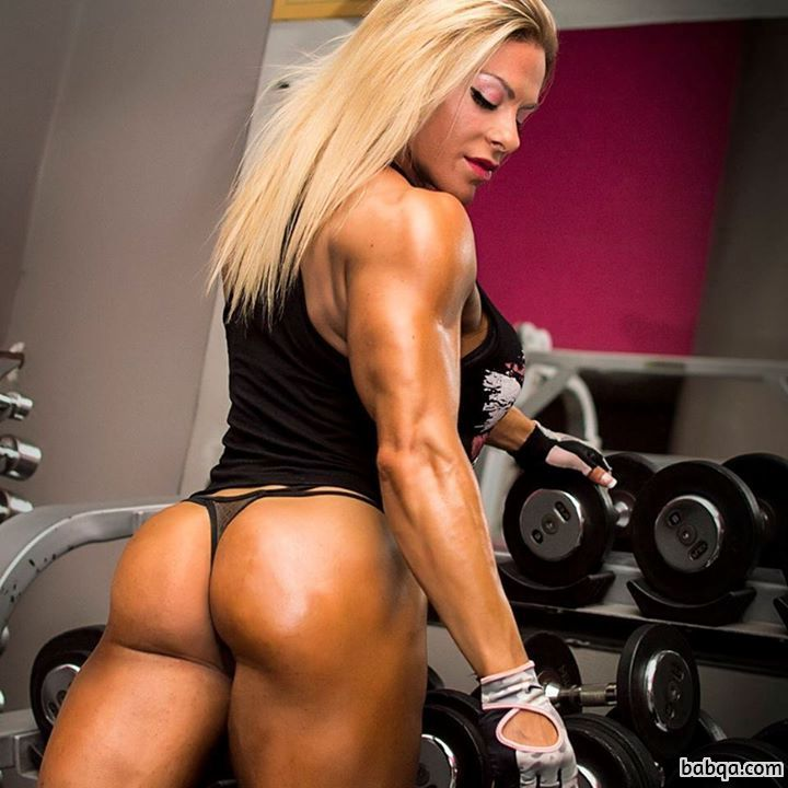 hottest female bodybuilder with muscular body and toned ass repost from tumblr
