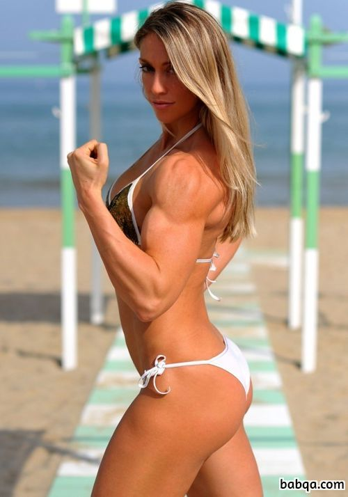 hot female bodybuilder with strong body and toned bottom post from linkedin