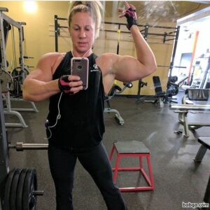 awesome lady with muscular body and toned arms post from flickr