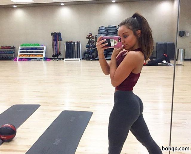 hottest chick with strong body and muscle legs image from instagram