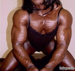 spicy chick with fitness body and muscle biceps post from tumblr