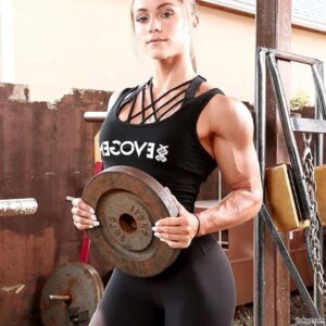 cute female bodybuilder with fitness body and toned arms picture from flickr