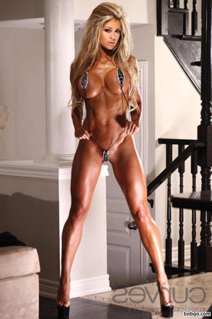 beautiful woman with muscle body and toned biceps repost from tumblr