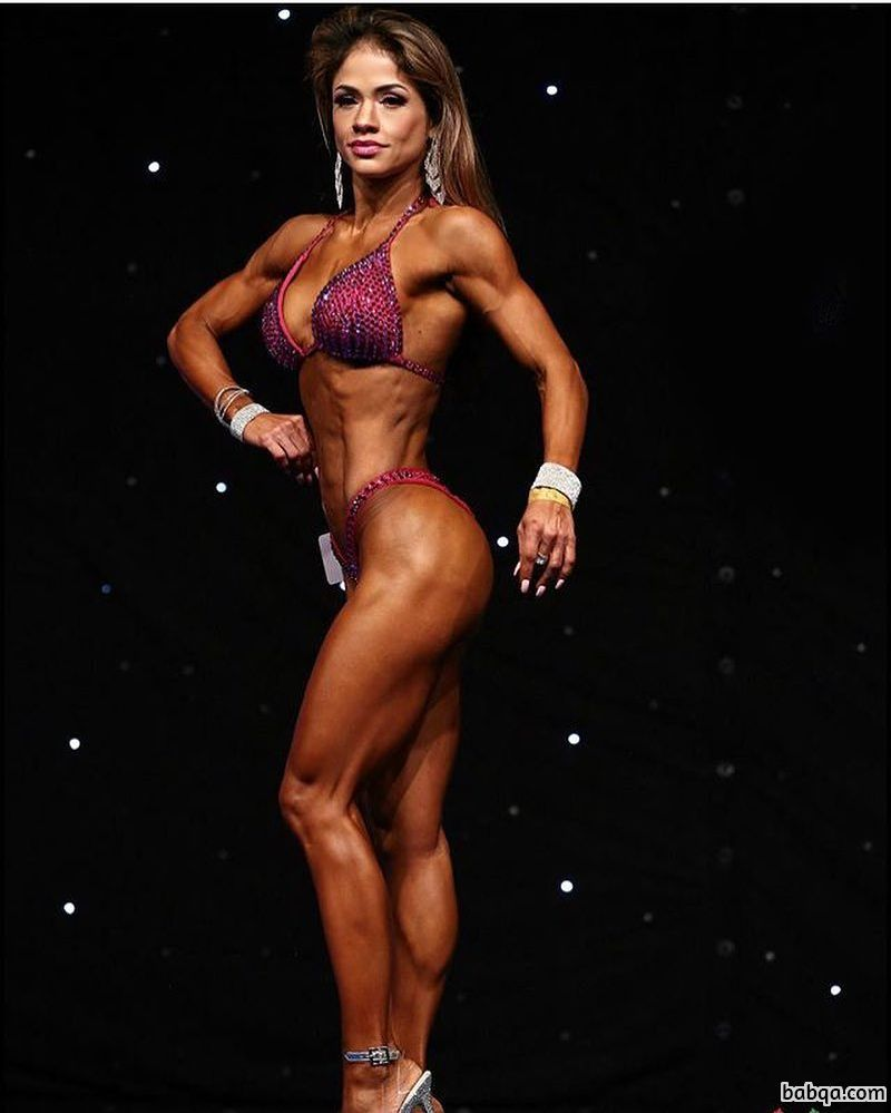 beautiful female bodybuilder with fitness body and muscle arms image from g+