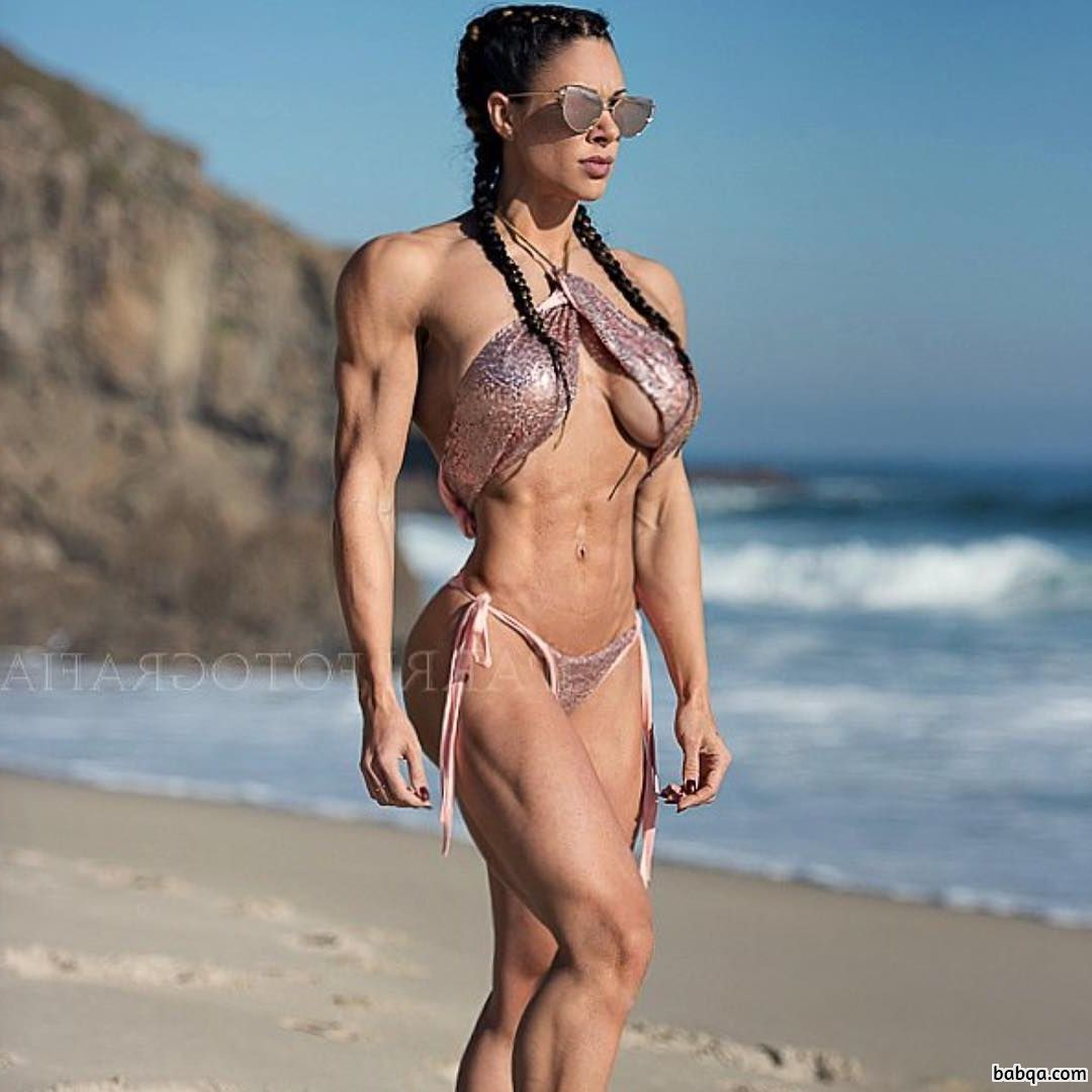 hottest woman with strong body and muscle legs picture from facebook