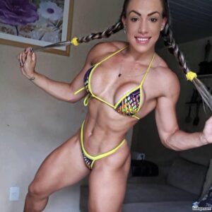 sexy chick with strong body and toned biceps post from reddit