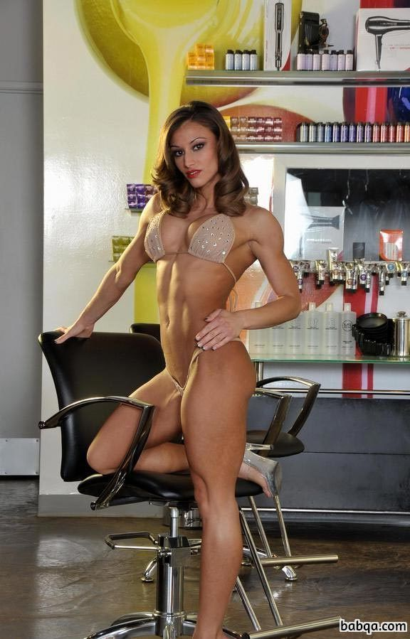 sexy female bodybuilder with strong body and muscle ass post from tumblr