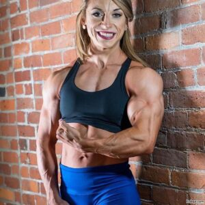 hottest lady with fitness body and muscle arms post from facebook