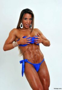 hottest girl with fitness body and muscle arms pic from facebook