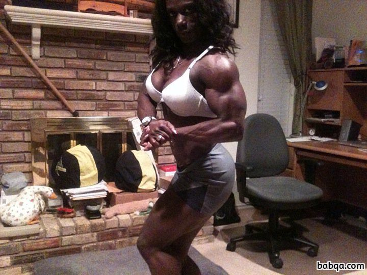 beautiful female bodybuilder with strong body and toned booty photo from facebook