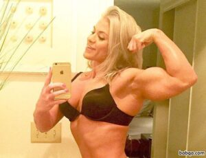 sexy woman with strong body and muscle booty repost from tumblr