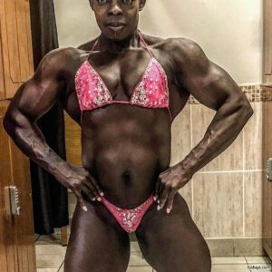 hottest female bodybuilder with muscle body and toned bottom image from instagram