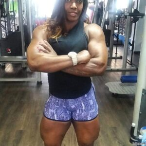 awesome girl with muscle body and toned arms repost from tumblr
