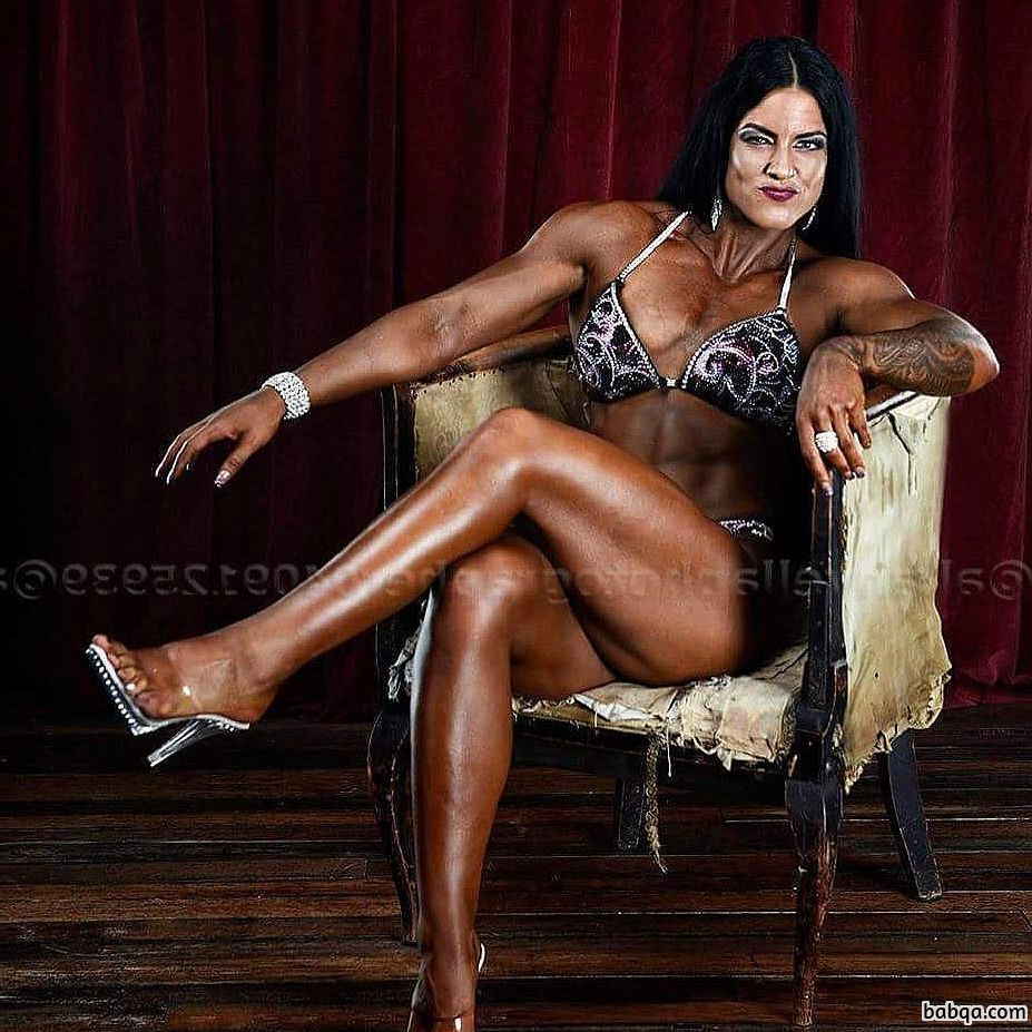 cute female bodybuilder with muscular body and muscle arms image from instagram