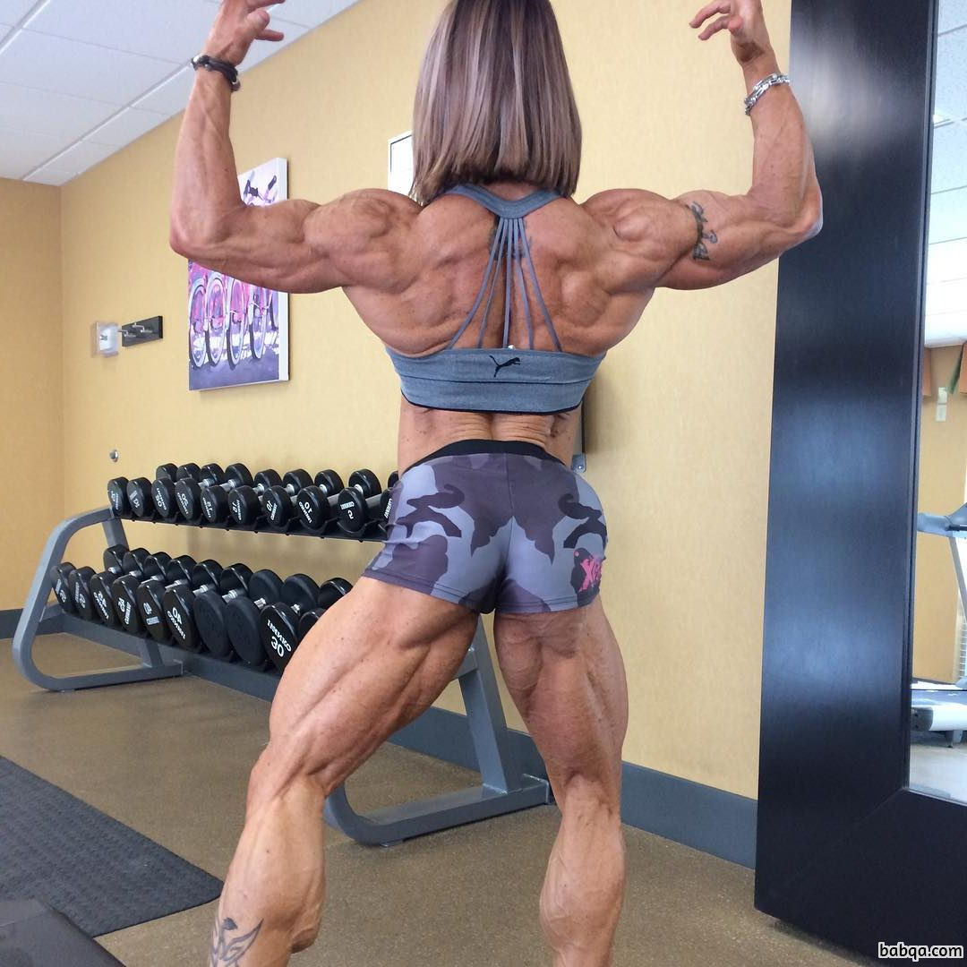 sexy female with muscular body and muscle ass photo from insta