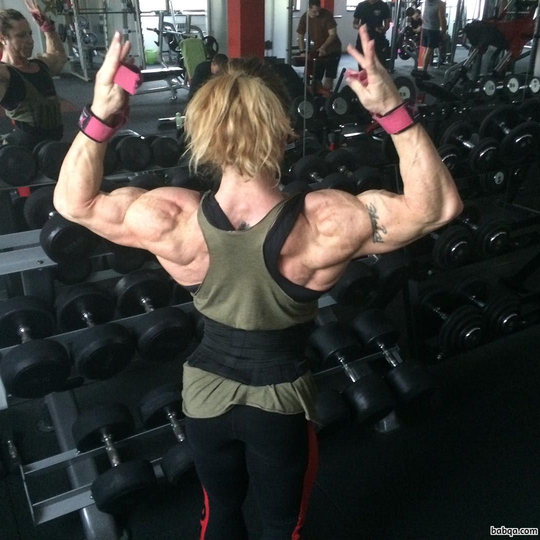 sexy lady with muscle body and muscle biceps picture from g+