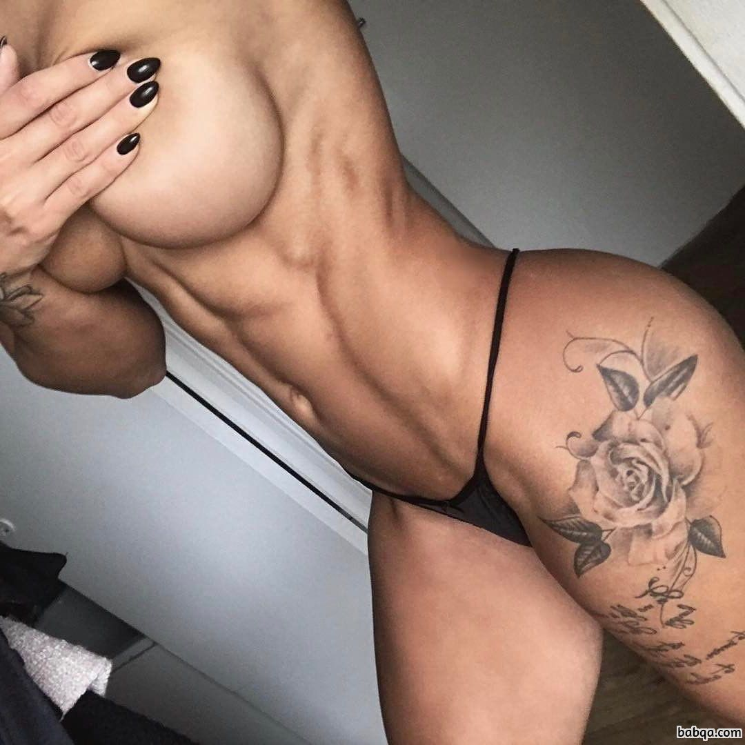 spicy lady with muscle body and toned bottom image from reddit