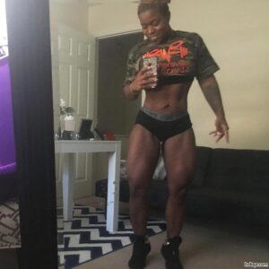 spicy babe with muscle body and muscle biceps post from linkedin