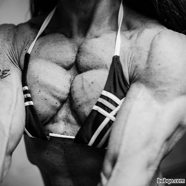 hot female bodybuilder with muscle body and muscle bottom photo from g+