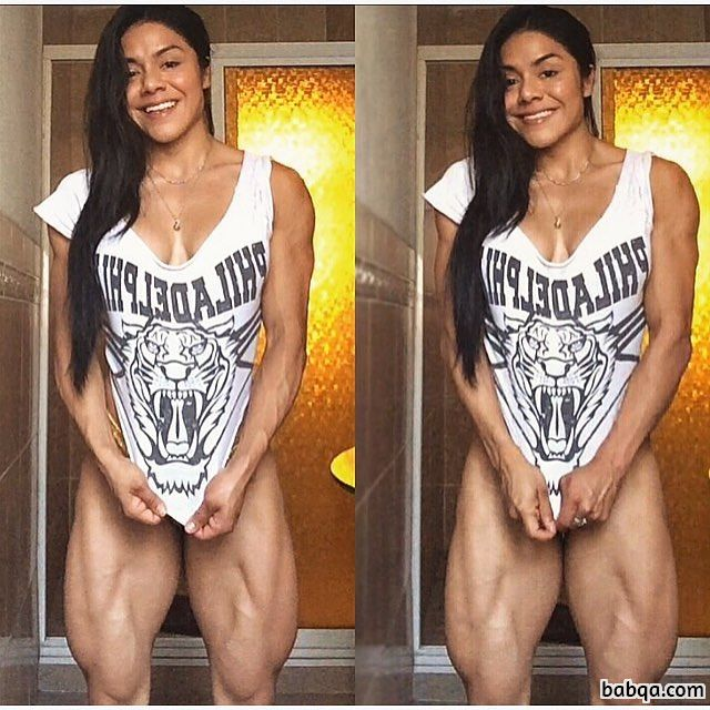 spicy lady with fitness body and muscle ass image from g+