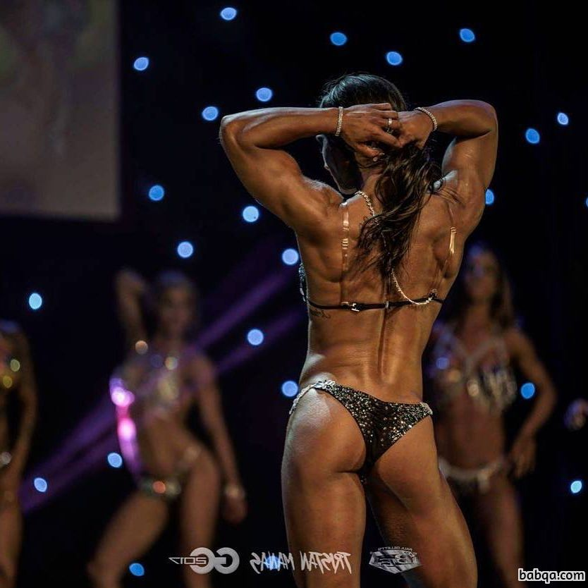 hottest woman with muscular body and toned arms image from facebook
