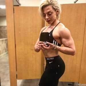 cute female bodybuilder with muscular body and muscle booty repost from facebook