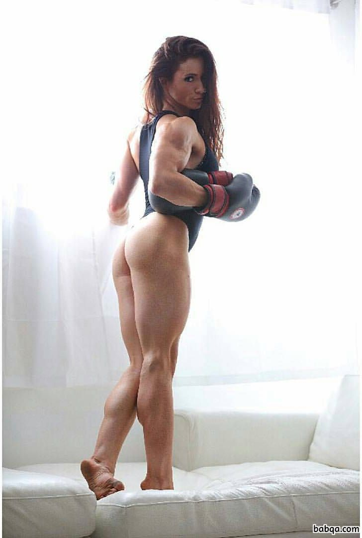 perfect woman with muscular body and muscle ass picture from facebook