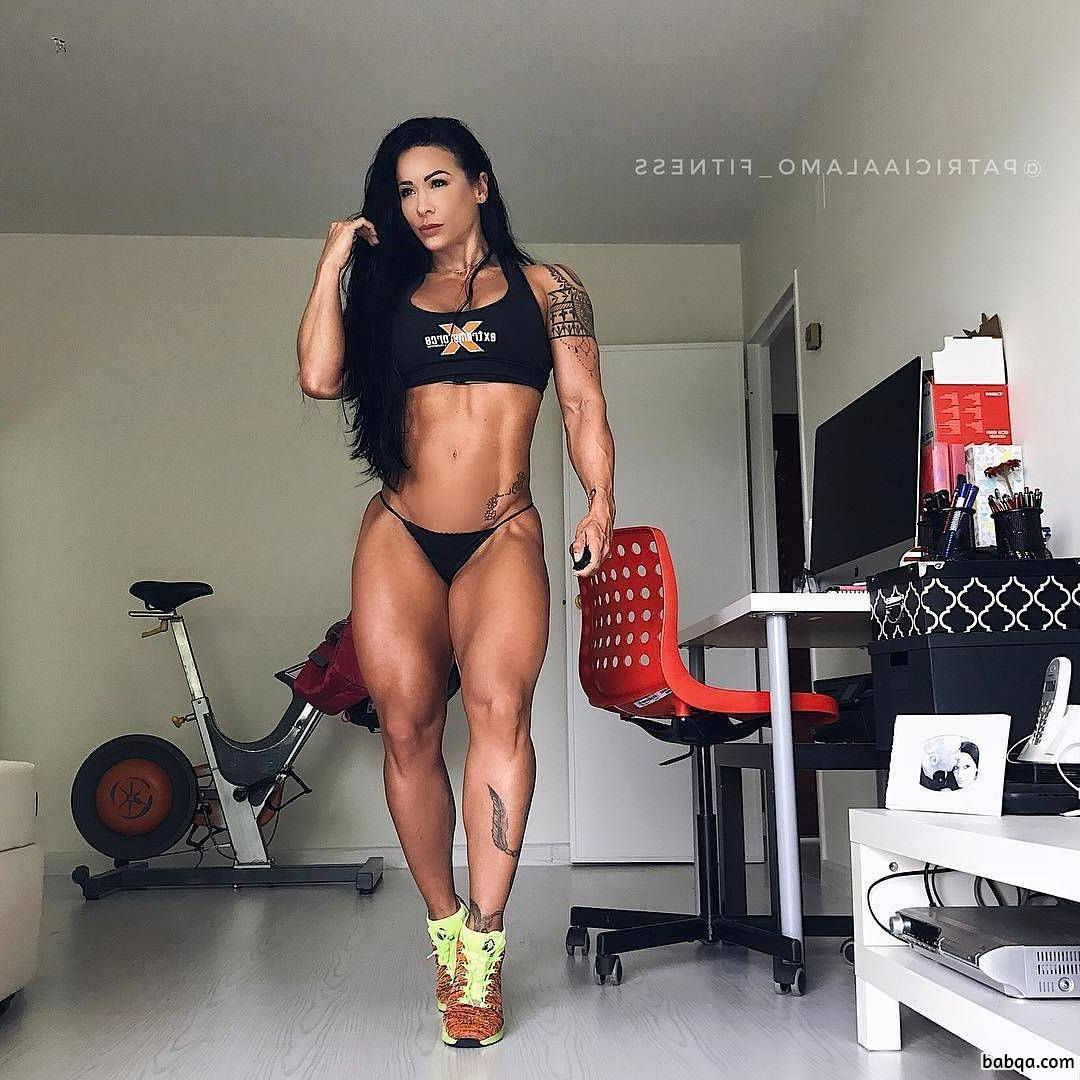sexy babe with muscular body and muscle arms image from flickr