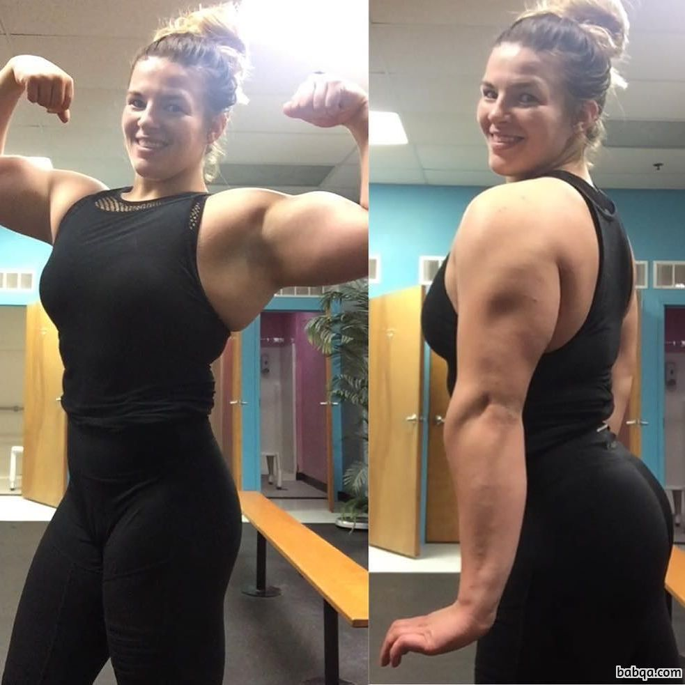 cute woman with muscle body and muscle bottom post from flickr