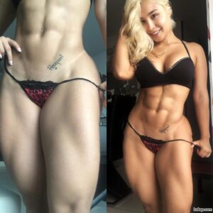 sexy girl with muscular body and toned arms pic from tumblr