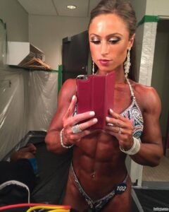 hot woman with muscular body and muscle arms picture from g+