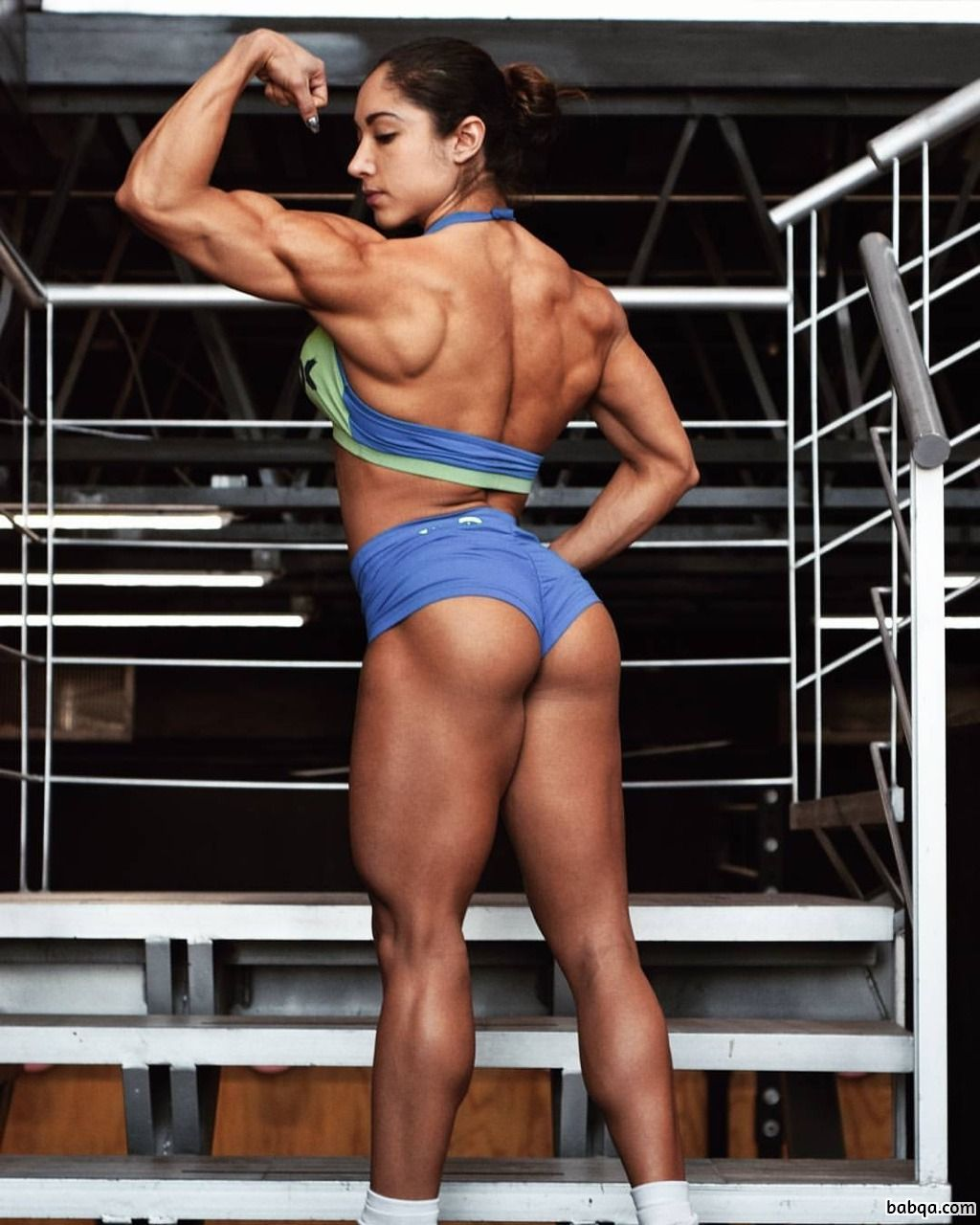 perfect woman with fitness body and muscle ass photo from reddit