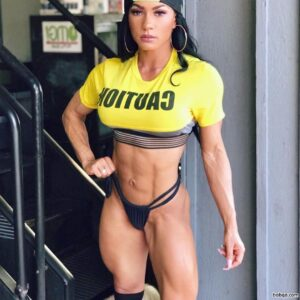 hot girl with muscle body and muscle legs post from linkedin