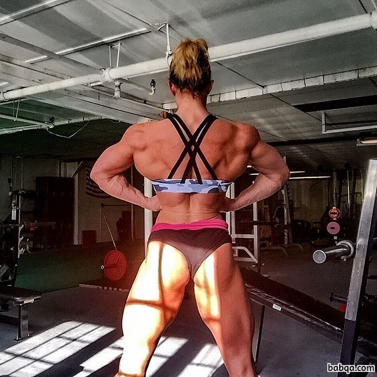 perfect babe with muscular body and toned arms post from facebook