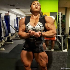 awesome woman with strong body and muscle booty image from reddit