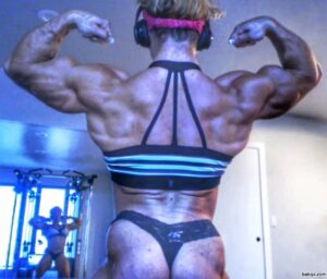 awesome babe with strong body and muscle bottom image from g+