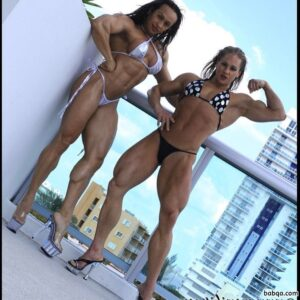 awesome chick with muscular body and muscle legs photo from g+