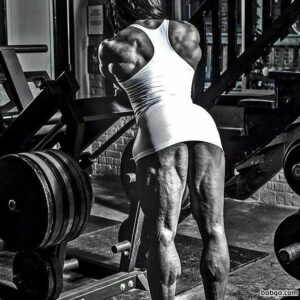 awesome female bodybuilder with strong body and muscle bottom picture from g+