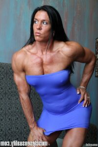 sexy chick with muscle body and muscle biceps image from tumblr