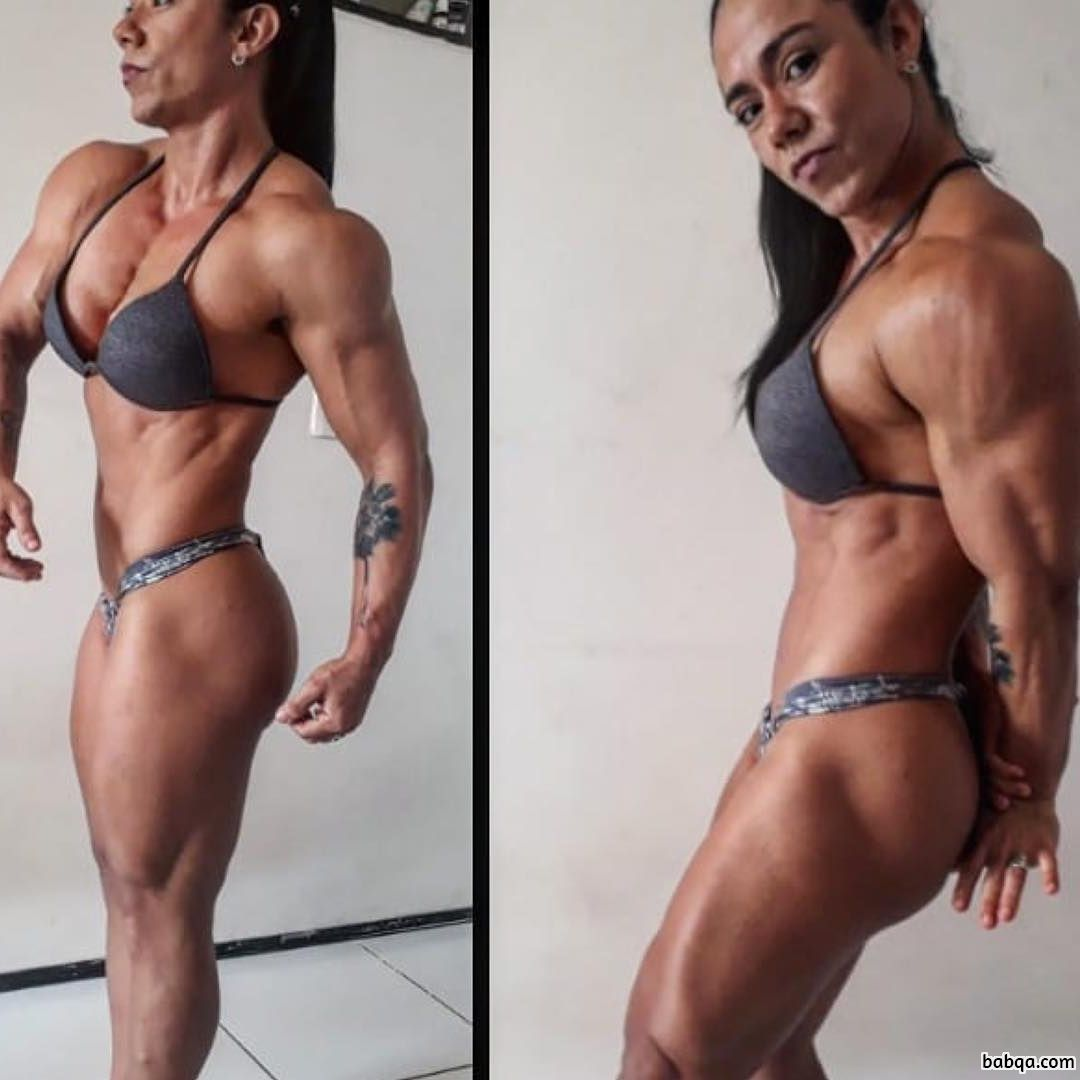 cute female bodybuilder with fitness body and muscle bottom repost from flickr