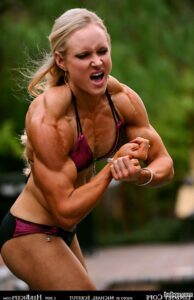 hottest babe with muscle body and muscle legs post from linkedin