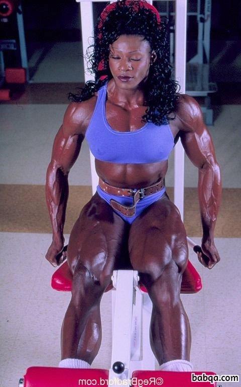 beautiful female with muscle body and muscle biceps photo from facebook
