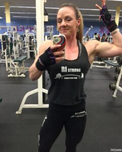 cute woman with strong body and muscle arms pic from facebook
