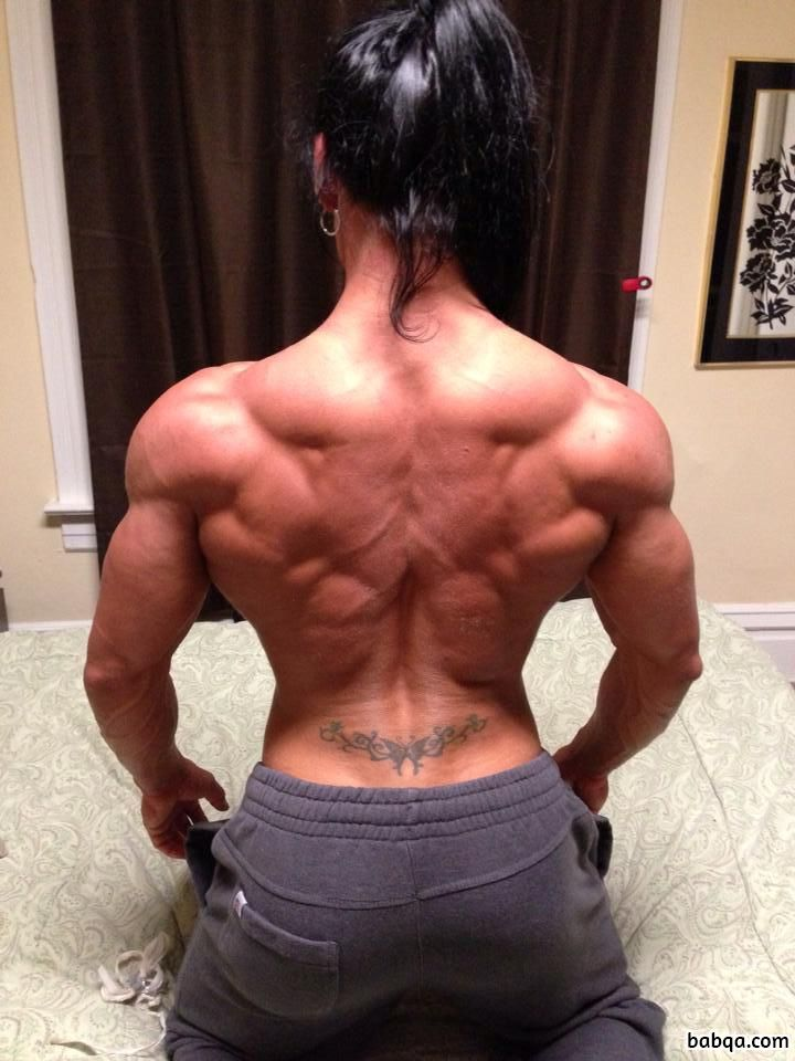 perfect female bodybuilder with fitness body and toned legs post from linkedin