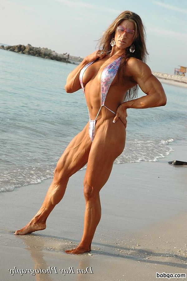 hot female bodybuilder with strong body and muscle ass image from flickr
