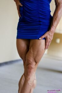 awesome female bodybuilder with strong body and muscle arms photo from linkedin