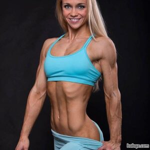 hottest lady with fitness body and muscle bottom post from flickr