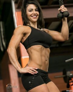 hottest woman with muscle body and muscle biceps picture from facebook