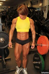 awesome female with muscular body and muscle biceps picture from g+